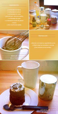 Receta de chocolate hecho en un minuto al microondas