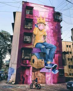 @powwowdc #Mural by Pragyesh (@rerioz) for #Startmumbai, @StartIndia, @AsianPaints and the #Mhimeastartdistrict in #Mumbai, India. • by @ace_rege • #pragyesh #rerioz #startindia #asianpaints