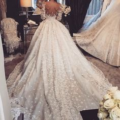 Wedding Dress by Steven Khalil.- Wedding Dress by Steven Khalil. Wedding Dress by Steven Khalil. Half Sleeve Wedding Dress, Wedding Dress Train, Luxury Wedding Dress, Sexy Wedding Dresses, Tulle Wedding, Bridal Dresses, Wedding Gowns, Bling Wedding, Wedding Venues