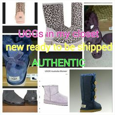 NEW UGG IN STOCK Over 200 pairs sold here on posh in bundles mostly. Thanks for all ir nice comments and stars.😍😍😘 ALL MY UGG ARE AUTHENTIC  SEE MY CLOSET FOR UGG POSTS.. get your new uggs today 5 star closet- top posh 10% seller- posh mentor- over 200 posh transactions UGG Shoes