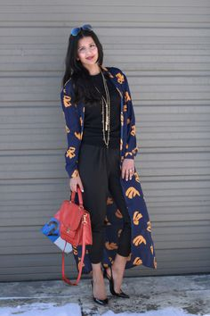 Harem pants + Long Printed Jacket #lovezahra