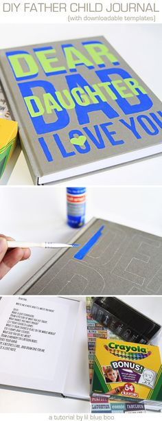 How to Make a Father Child Journal