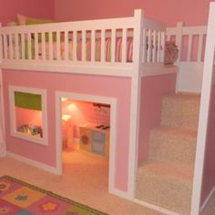 Bedroom. Pink bunk beds paint plans, white wooden fence bed, room kids under beds. Smart plans for bunk beds with stairs.