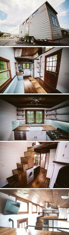 The Mayflower was kind of a combination of boththeir   Triton and Chimera homes, per Wind River Tiny Homes.   It's a 30 ft home in order t...