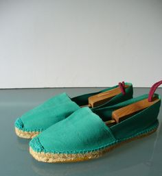 Biarritz Made in France Classic Flat Espadrilles Size 9 US by TheOldBagOnline on Etsy