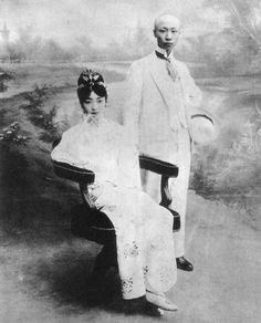 Last Emperor Puyi and his first wife Wan Rong