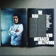 The Man that Outraced Hollywood #justinlin in #wired 24.06 . Designed by @francesco_muzzi with one of my favorite typefaces ITC Machine 💪  and 📷 by the great @fwo3 #graphicdesign #editorialdesign #magazine