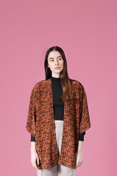 AH/OK — Tabacco - Silk Kimono