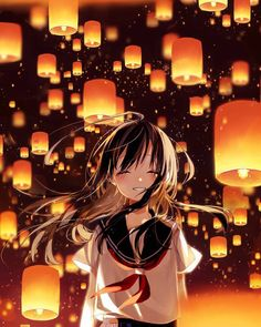 I love anime, manga and almost everything about japanese culture, so i decided i will post wallpapers and pictures of anime girls/guys/landscapes etc. Anime School Girl, Anime Girl Cute, Beautiful Anime Girl, I Love Anime, Awesome Anime, Anime Art Girl, Anime Girls, Art Manga, Manga Girl