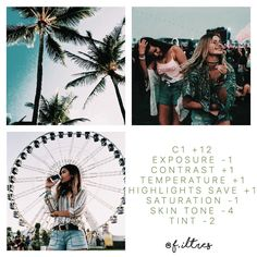 Requested by @nekotoxic A turquoise tropical filter, perfect for summer, and looks great on greens, blues and skin tones [#vscoC1 #f_iltres]