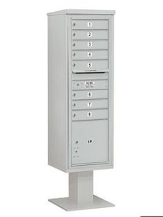 4C Pedestal Mailbox (Includes 13 Inch High Pedestal and Master Commercial Locks) - 15 Door High Unit (70-1/4 Inches) - Single Column - 8 MB1 Doors / 1 PL5 - Gray by Salsbury Industries. $972.97. 4C Pedestal Mailbox (Includes 13 Inch High Pedestal and Master Commercial Locks) - 15 Door High Unit (70-1/4 Inches) - Single Column - 8 MB1 Doors / 1 PL5 - Gray - Salsbury Industries - 820996454904. Save 26% Off!