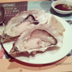 First time to eat oyster:D  The taste is awful -_-