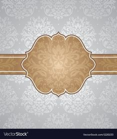 Floral retro frame vector image on VectorStock Wallpaper Wedding, Gold Wallpaper, Flower Wallpaper, Page Borders Design, Border Design, Creative Poster Design, Creative Posters, Beautiful Flowers Wallpapers, Creative Background