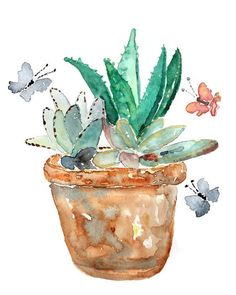 Image result for watercolor cactus paintings