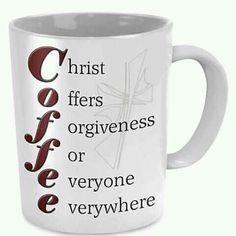 Coffee mug - Faith - Tea Glasses I Love Coffee, Coffee Break, Coffee Shop, Coffee Cups, Coffe Cake, Coffee Lovers, My Coffee, Coffee Mornings, Nitro Coffee