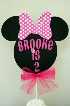Minnie Mouse Cake Topper, Minnie Mouse smash cake topper, Minnie birthday party or baby shower