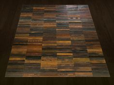 leather belt carpet. wow. #recycled #repurposed