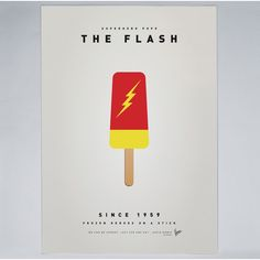 Chungkong - My Superhero Ice Pop - The Flash - Print