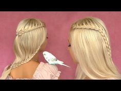 Braided hairstyles for medium and long hair - Valentine's day tutorial