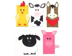 12 Cute Farm Animal Party Themed Favor Loot by ScrapsToRemember