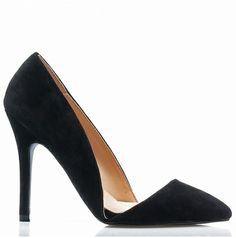 Asymetryczne szpilki czarne czółenka szpic K91 Pumps, Heels, Fashion, Heel, Moda, Fashion Styles, Pumps Heels, Pump Shoes, High Heel