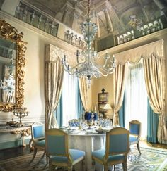 Pinterest's 7 Most Gorgeous Interiors with Luxury Savonnerie Rugs- Four Seasons Hotel Florence