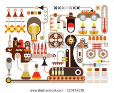 Vector Download » Pharmaceutical laboratory - vector illustration on white background. Medical factory. - » Free Vector Graphics free download and share your vector
