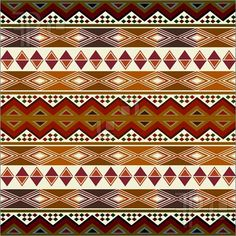 Illustration of Multicolored african pattern with geometric shapes/symbols