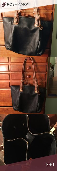 ✨Audrey Brooke genuine leather purse✨ Excellent condition! No stains or markings or tears. Beautiful accents. Zippers on the sides and zipper on the inside. Magnet closure. Pockets on the inside as well. Make an offer💋 Audrey Brooke Bags Shoulder Bags