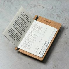 menu typography + wood board