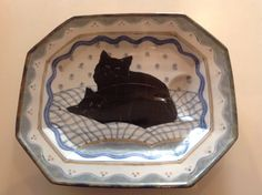 HIGHLAND STONEWARE BLACK CATS