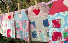 Houses Bunting by Bustle  Sew, via Flickr