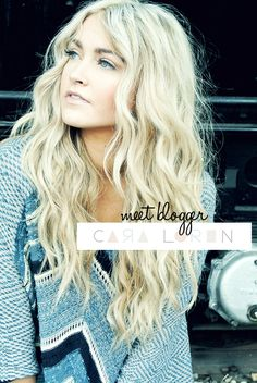 beachy waves hair tutorial. Love her beach waves!