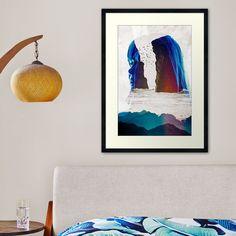 Blue Framed Art, Framed Art Prints, Surreal Collage, Tapestry, Wall Art, Tees, Illustration, People, Painting
