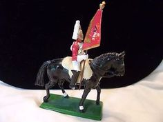 W Britain 1988 Vintage Military Scots Life Mounted Guard Flag Bearer Soldier | eBay