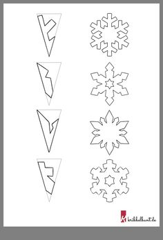 Schneeflocken basteln – Weihnachtsbasteln Mit Kindern Kita – Tinker snowflakes – Christmas crafts with children Kita – Paper Snowflake Template, Snowflake Craft, Christmas Snowflakes, Diy Snowflakes, Paper Snowflake Patterns, Making Paper Snowflakes, How To Make Snowflakes, Frozen Snowflake, Snowflake Garland