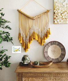 Cheap Home Decor .Cheap Home Decor Ethnic Decor, Bohemian Decor, Diy Tassel, Tassels, Textile Fiber Art, Wooden Beads, Coastal Decor, Wood Colors, Wall Decor