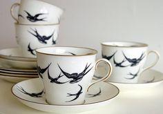 a swallow china set.