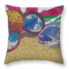 Want to buy this pillow? Click on the title or follow this link:  https://fineartamerica.com/featured/at-the-beach-ali-baucom.html?product=throw-pillow