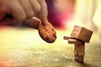 Kartonmännchen Mit cookie