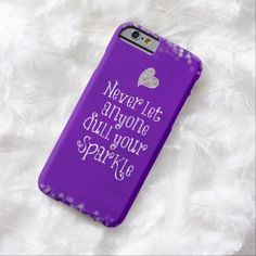 Purple Girly Inspirational Sparkle Quote Barely There iPhone 6 Case Iphone 7 Plus, Iphone 8, Cases Iphone 6, Iphone Cases Quotes, Custom Iphone Cases, Cell Phone Covers, Cute Phone Cases, Sparkle Quotes, Bible Verses