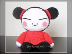 Free Amigurumi Kokeshi Doll Patterns : Amigurumi kokeshi doll free crochet pattern tutorial