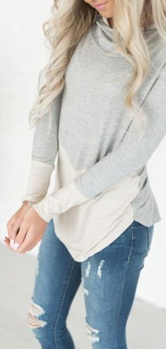 Hooded Top- so comfy and cozy and perfect for fall! (aff)