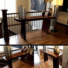 LiveEdgeRedOak Sofa Table- Rescued Workbench