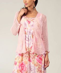 Take a look at this Baby Pink Sheer Open Cardigan on zulily today!