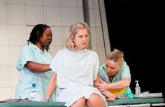 Jacqui Dubois, Denise Gough and Sally George in People, Places and Things. People, Places and Things, Hangmen and Oresteia tipped for South Bank Sky Arts Awards