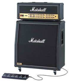 Marshall JVM Guitar Amplifier Half Stack: Join the ranks of rocks greatest guitarists by plugging into a Marshall half-stack. It includes the JVM410H Tube Head and the JCM1960A Cabinet.