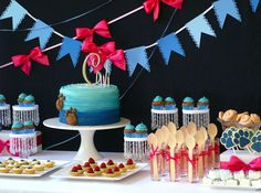 "Looking for easy cake decoration ideas and fun party food for a Blues Clues Party?  Even though this doesn't use the ""official"" Blues Clues pictures, it gives great inspiration."