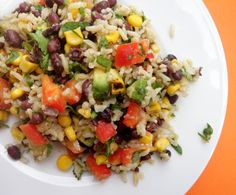 Rice and black beans - looks so yummy