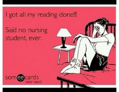 Nursing school problems.. Beginning to realize the truth in this statement.